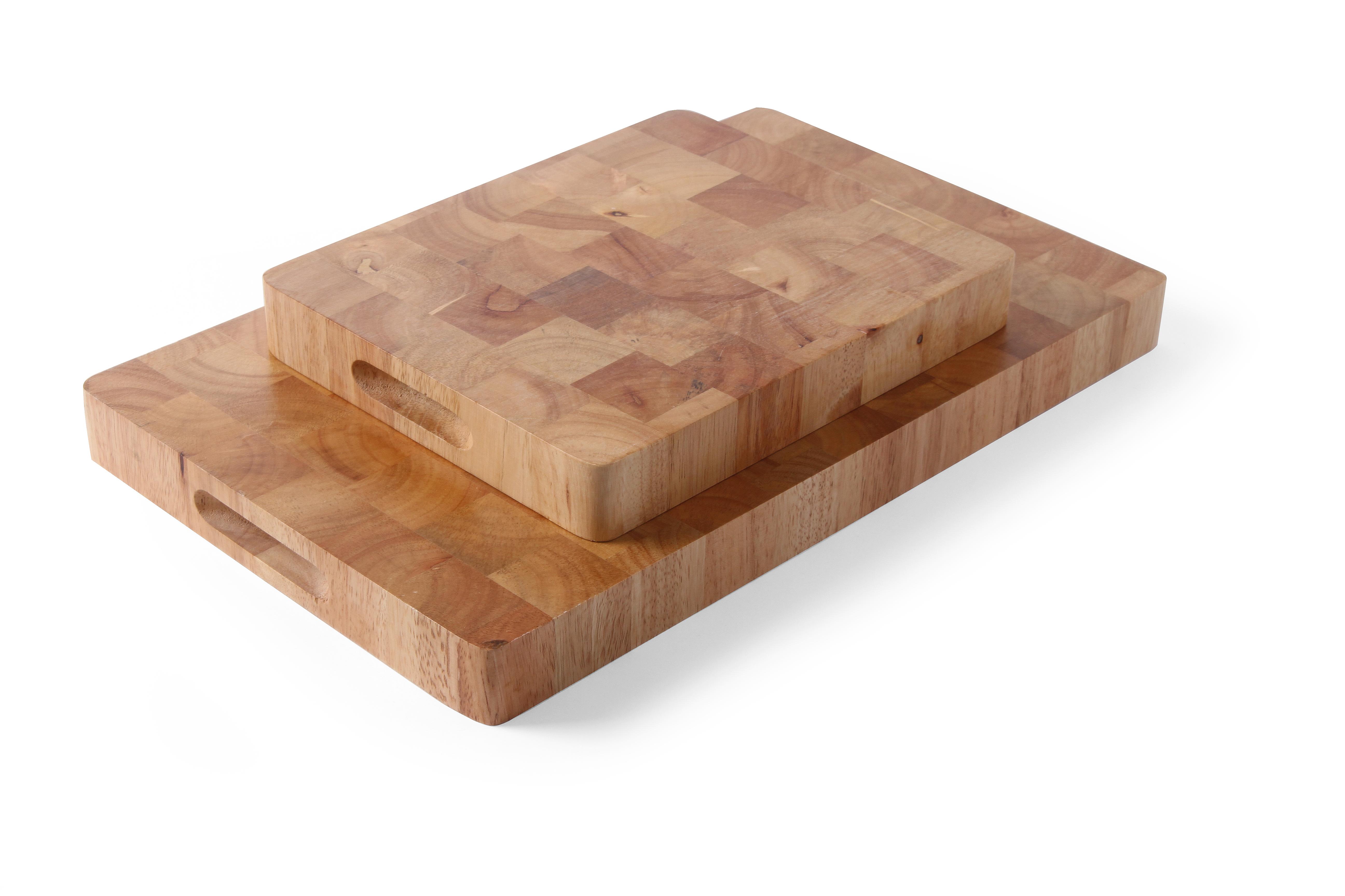 Hendi, Kuchyňská krájecí deska s úchyty 530x325x45mm kaučukovník