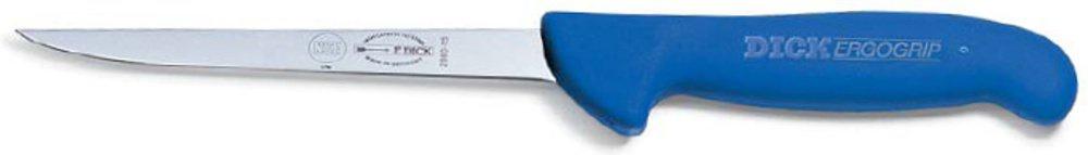 F.Dick Vykosťovací nůž se zahnutou čepelí, ohebný, ErgoGrip, modrý 13cm
