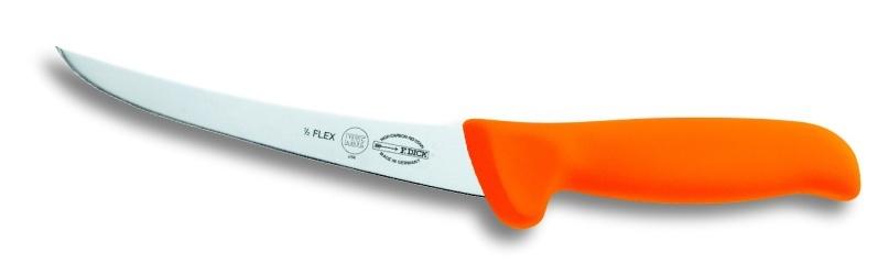 F.Dick Speciální vykosťovací nůž se zahnutou čepelí, poloohebný, oranž 15cm