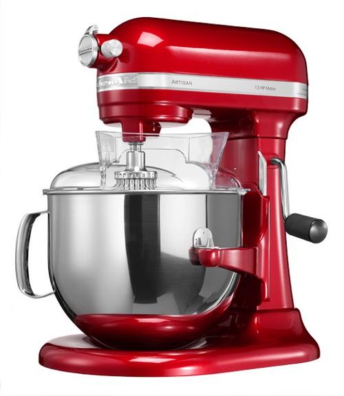 KitchenAid, Kuchyňský robot s mísou 6,9l červená metalíza, Artisan