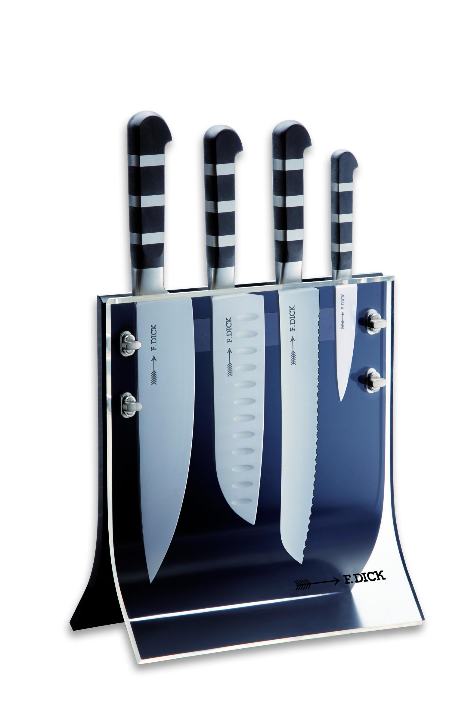 F.Dick, Sada kuchařských kovaných nožů 4ks s magnetickým stojanem, série 1905
