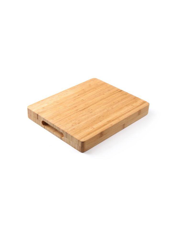 Hendi, Kuchyňská krájecí deska s úchyty 330x250x40mm, Bamboo