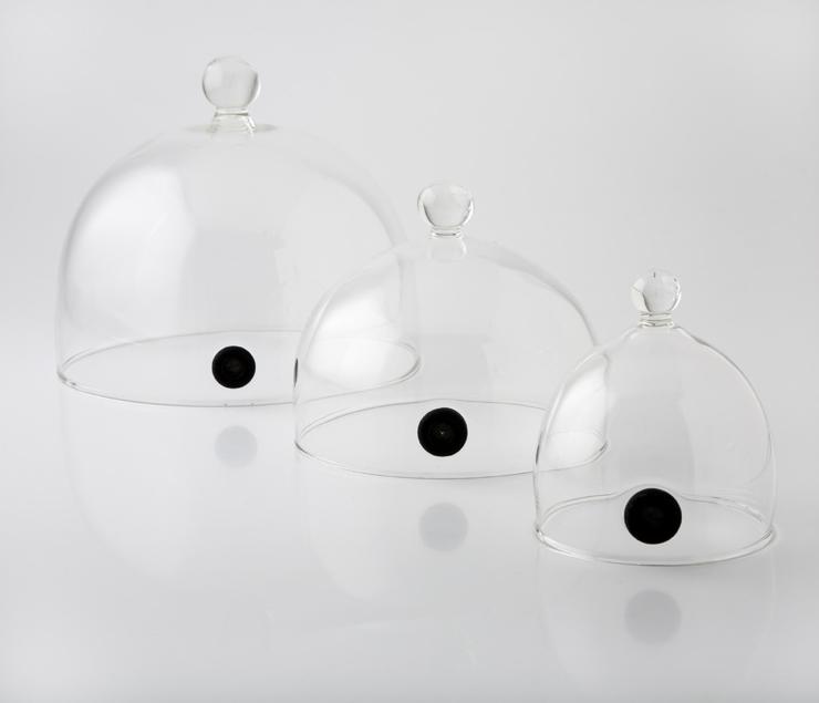 Tomgast, Poklop skleněný nízký s ventilem pr.18.5 cm