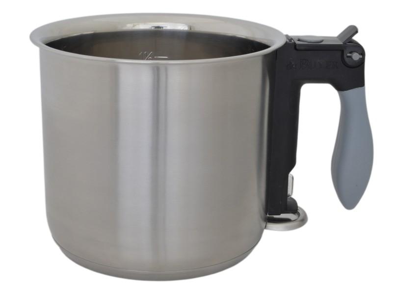 de Buyer, Dvouplášťový hrnec na mléko na indukci, nerezový