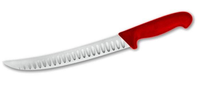 Nůž krájecí s výbrusem 20 cm - červený
