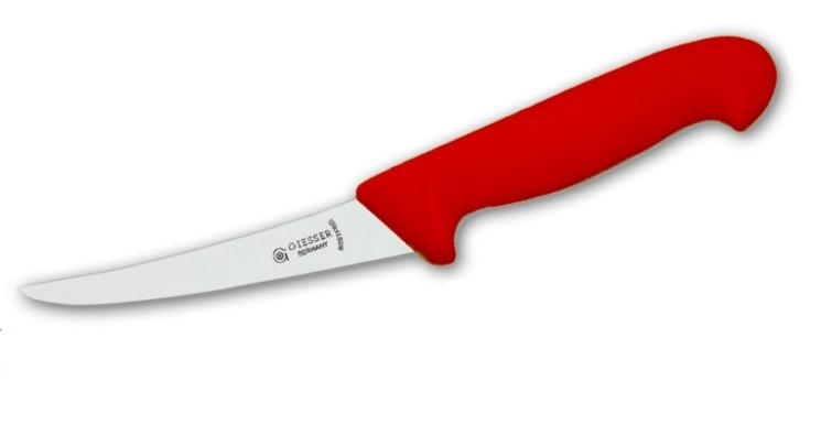 Nůž vykosťovací prohnutý 15 cm - červený