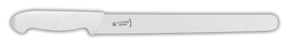 Giesser Messer, Nůž uzenářský 28 cm hladké ostří, bílá