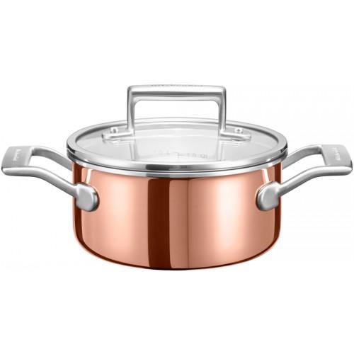 KitchenAid Měděný hrnec s poklicí 1,5l