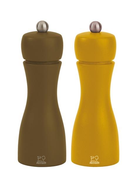 Peugeot, Mlýnek na sůl a pepř set 1+1 khaki, medová, Tahiti