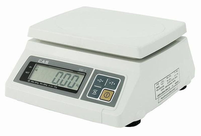 Kuchyňská váha stolní vodě odolná 10/20 kg