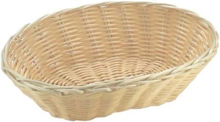 Košík na pečivo oválný 250 x 160 x 65mm, polyratan