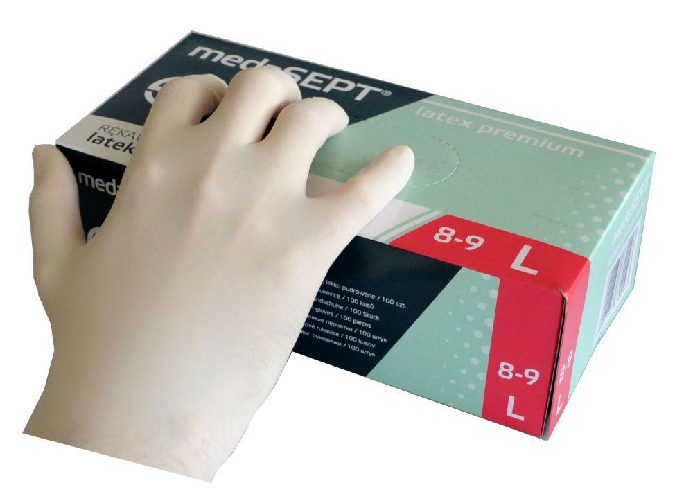 Jednorázové rukavice L